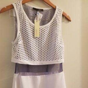 SugarLips White dress with navy mesh